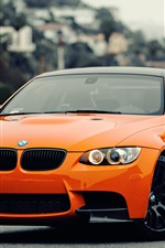 BMW M3 orange car