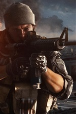 Preview iPhone wallpaper Battlefield 4, firefight at the warships