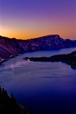 Preview iPhone wallpaper Crater Lake in Oregon of USA