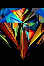 Preview iPhone wallpaper Diamond beautiful colors, black background