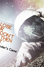 Preview iPhone wallpaper Ender's Game 2013