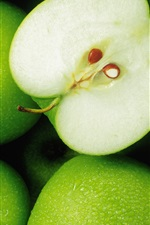 Preview iPhone wallpaper Green apple fruit close-up photography