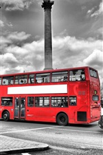 Preview iPhone wallpaper London, England, street, red bus, road, city
