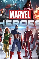 미리보기 iPhone 배경 화면 마블 영웅 HD