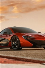 Preview iPhone wallpaper McLaren P1 orange supercar