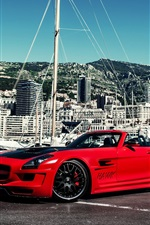 Preview iPhone wallpaper Mercedes-Benz SLS AMG Hamann, red supercar