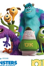 Preview iPhone wallpaper Monsters University, classmates photo