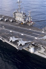 Preview iPhone wallpaper Navy, top view the aircraft carrier Harry Truman