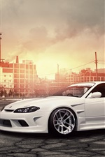 Nissan Silvia S15 white car