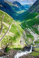 Norway, Trollstigen, winding road