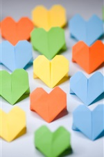 Preview iPhone wallpaper Paper art, love-heart origami, colorful