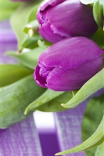 Preview iPhone wallpaper Purple flowers, a bouquet tulips