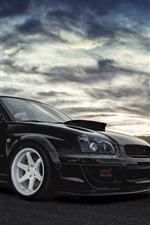 Preview iPhone wallpaper Subaru Impreza WRX STI black car