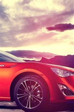Preview iPhone wallpaper Subaru sports car red color