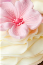 Preview iPhone wallpaper Sweet cakes, cream, flowers decorations, dessert, pastry