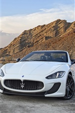 Two Maserati GranCabrio supercars