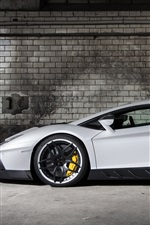 2013 Lamborghini Aventador LP700-4 white supercar