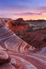 Preview iPhone wallpaper America desert landscape, rocks, sky, red color