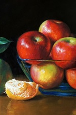 Preview iPhone wallpaper Art painting, apples and oranges