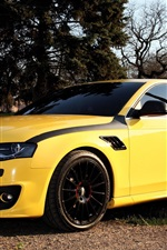 Audi A4 yellow color car