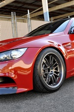 Preview iPhone wallpaper BMW M3 E92 red car