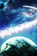 Preview iPhone wallpaper Beautiful planets, stars, galaxies