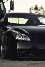 Preview iPhone wallpaper Black Infiniti G37 car