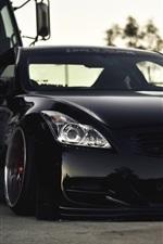 iPhone fondos de pantalla Negro Infiniti G37 coche