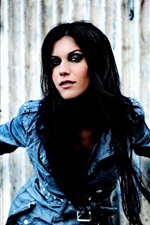 Preview iPhone wallpaper Cristina Scabbia 01