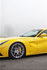 Preview iPhone wallpaper Ferrari F12 yellow supercar