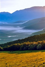Preview iPhone wallpaper Italy Umbria morning sun, nature scenery