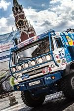 Kamaz truck, Dakar Rally, Moscow, Sky Clouds