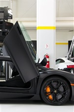 Preview iPhone wallpaper Lamborghini Aventador LP700-4 black color