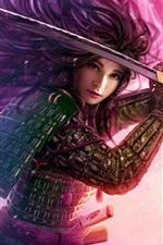 Legend of the Five Rings, roxo menina guerreira