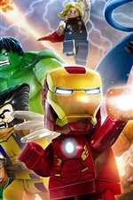Preview iPhone wallpaper Lego Marvel Super Heroes