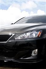iPhone fondos de pantalla Lexus IS350 coche negro