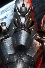 Preview iPhone wallpaper Mass Effect 3, N7, metal armor warrior