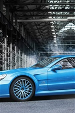 Preview iPhone wallpaper Mercedes-Benz SL-Klasse 65 AMG blue car