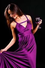 Purple evening dress girl