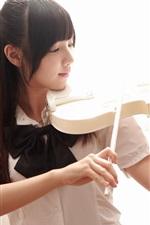 Preview iPhone wallpaper Asian violin music girl