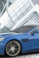 Preview iPhone wallpaper Aston Martin Vanquish blue car