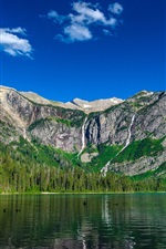 Preview iPhone wallpaper Avalanche lake, mountain, sky
