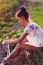 Preview iPhone wallpaper Ballet girl at sunset summer