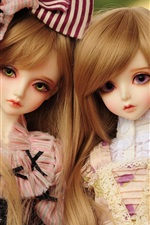 Preview iPhone wallpaper Beautiful toys dolls, blonde hair girls