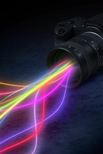 Preview iPhone wallpaper Creative design, camera lens colorful light