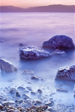 Preview iPhone wallpaper Dead Sea sunset scenery