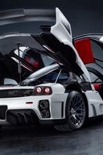 iPhone обои Ferrari Enzo Gemballa MIG-U1 суперкар сторона рассматривает