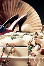 Preview iPhone wallpaper Jewelry, shoes, necklaces, bracelets, female dress supplies