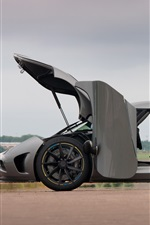 iPhone fondos de pantalla Koenigsegg Agera vista lateral supercar