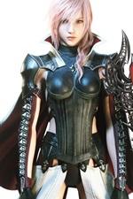 Relâmpagos Returns: Final Fantasy XIII, menina guerreira